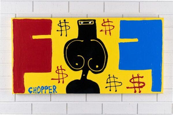 morpeth gallery hunter valley mark brandon chopper read underbelly where's the money bitch? ned kelly original artwork