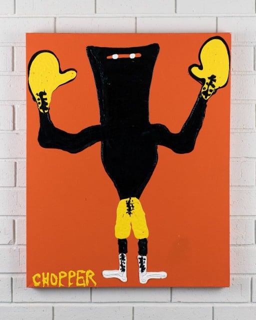 morpeth gallery hunter valley mark brandon chopper read underbelly kelly's last fight boxer kelly original artwork