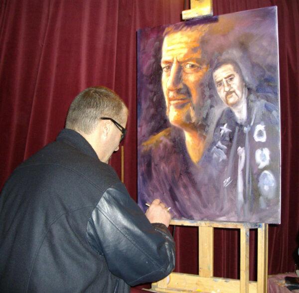 morpeth gallery hunter valley mark brandon chopper read underbelly painted live by zapp original artwork