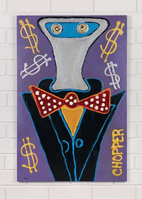 morpeth gallery hunter valley mark brandon chopper read underbelly orange bow tie kelly original artwork