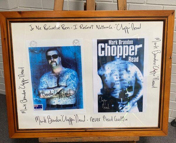 morpeth gallery hunter valley mark brandon chopper read underbelly print never plead guilty