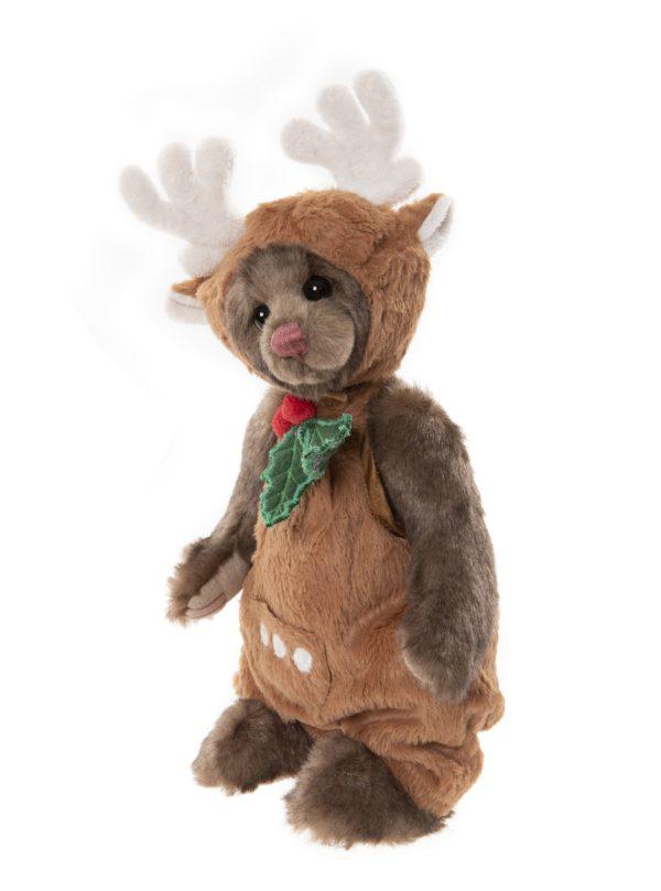 Morpeth Teddy Bears Charlie Bear Plush Collection Hunter Valley Jumpsuit bear dressed as reindeer