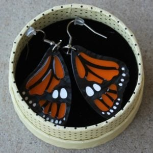 Erstwilder Earrings – Prince of Orange (Butterfly)