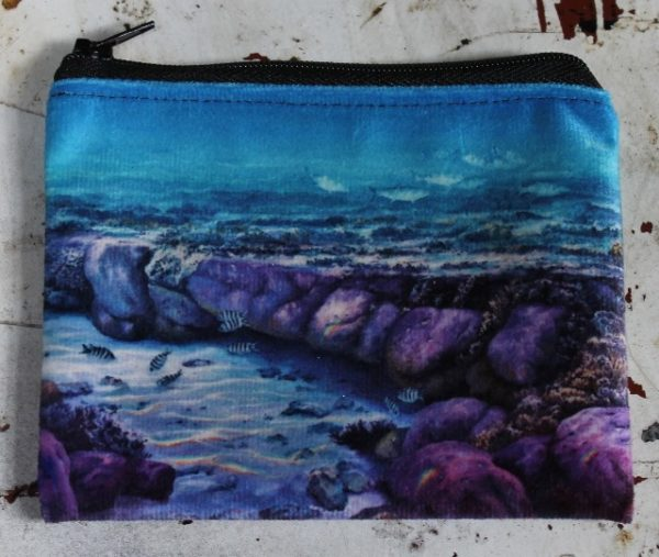 morpeth gift gallery hunter valley zip zippered purse coins toiletries make-up keys robyn collier ocean reef great barrier under water world lady elliot's jewels natural wonder world