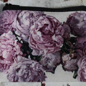 Zip Purse – Pink Peonies