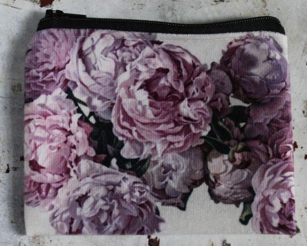 morpeth gift gallery hunter valley zip zippered purse coins toiletries make-up keys simon barlow pink peonies floral splendour