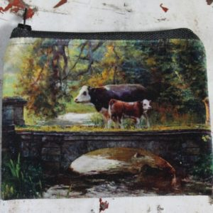 Zip Purse – Country Cows