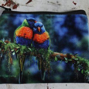 Zip Purse – Rainbow Lorikeets