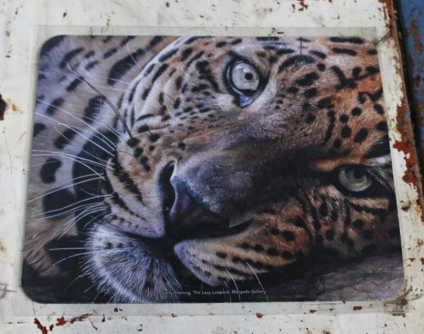 morpeth gift gallery hunter valley computer mouse mat pad garry fleming lazy leopard jungle cat