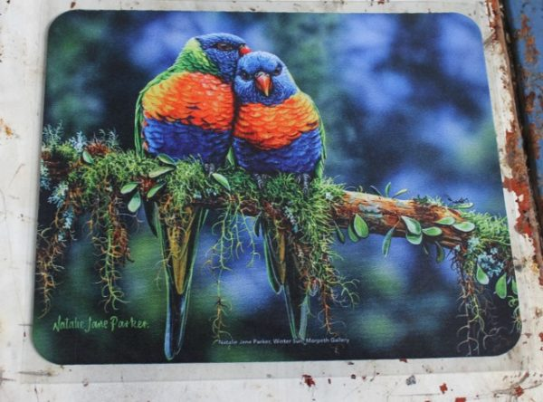morpeth gift gallery hunter valley computer mouse mat pad winter sun rainbow lorikeet australian native birds