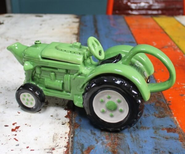 morpeth gift gallery novelty teapot ceramic tractor