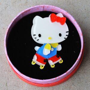 Erstwilder Brooch – Hello Kitty Time For A Skate