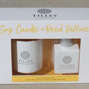 Tilley Soy Candle & Reed Diffuser Duo – Tahitian Frangipani