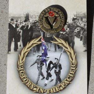 Victory Pacific Day Badge – Wreath 1945