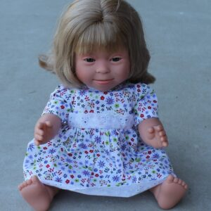 Down Syndrome Girl Doll Blonde Hair