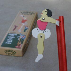 Trapeze Ballerina Wooden Toy