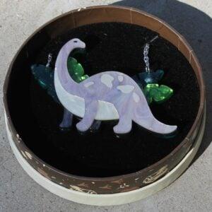 Erstwilder Necklace – I'll Be Brach (Brachiosaurus – Lavender)