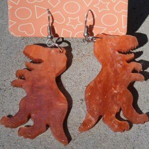 Erstwilder Earrings – Dinosaur Apricot