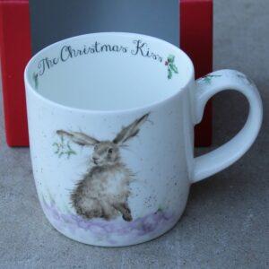 Wrendale Mug – The Christmas Kiss (Hare & Mistletoe)