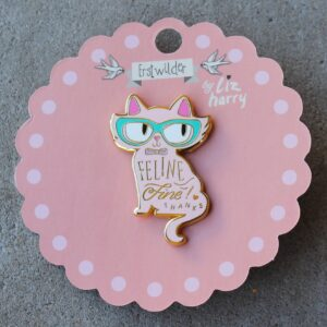 Erstwilder Enamel Pin – Feline Fine (Cat Pink)
