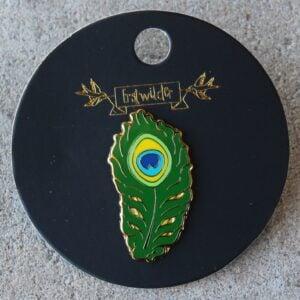 Erstwilder Enamel Pin – The Royal Eye (Peacock Feather)