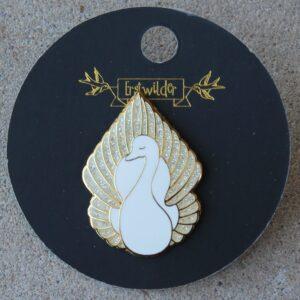Erstwilder Enamel Pin – On White Wings (Swan)