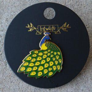 Erstwilder Enamel Pin – Le Peacock Royal