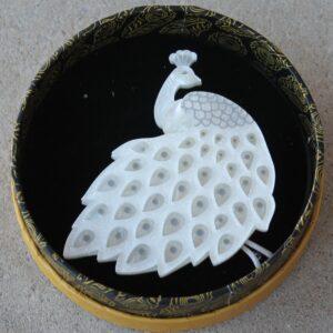 Erstwilder Brooch – Le peacock Royal (White)