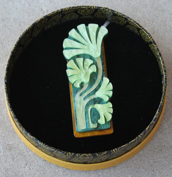 morpeth antique centre hunter valley erstwilder enamel pin doggo darkness earring brooch necklace art nouveau fronds of fortune lotus acanthus leaves retro enamel pin up collectable