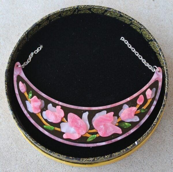 morpeth antique centre hunter valley erstwilder enamel pin doggo darkness earring brooch necklace art nouveau steel magnolias pink purple retro enamel pin up collectable