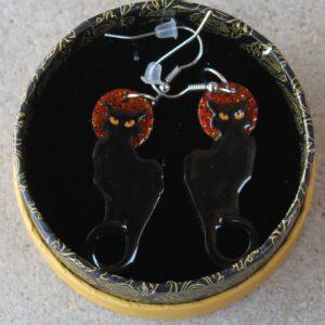 Erstwilder Earrings – Le Chat Noir (Cats)