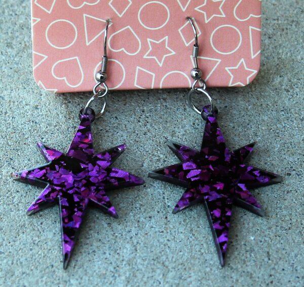 morpeth antique centre hunter valley erstwilder essential earrings starburst crescent moon nouveau ripple purple sparkle swirl glitter