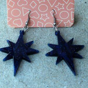 Erstwilder earrings – Starburst Blue Sparkle