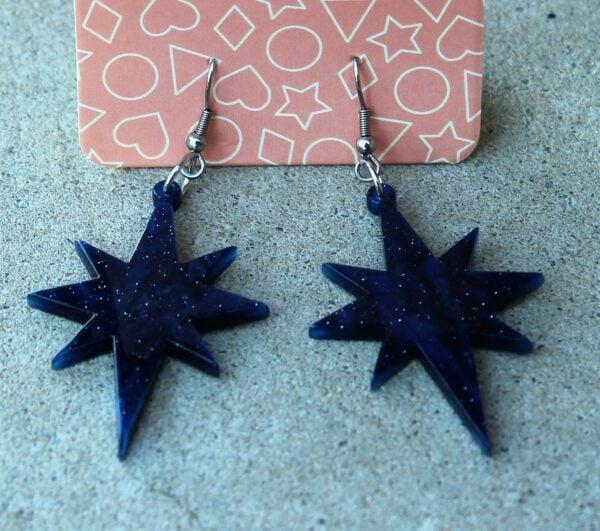 morpeth antique centre hunter valley erstwilder essential earrings starburst crescent moon nouveau ripple sparkle blue swirl glitter