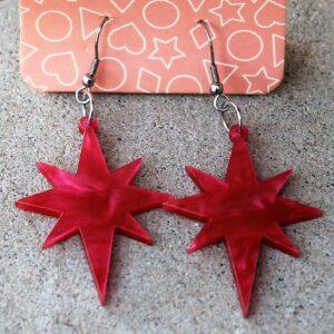 Erstwilder Earrings – Starburst Pink Swirl