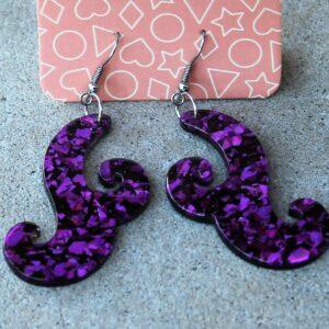 Erstwilder Earrings – Nouveau Purple Glitter