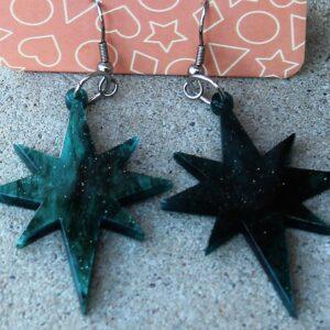 Erstwilder Earrings – Starburst Green Sparkle