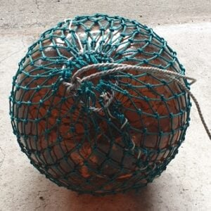 Vintage Glass Fishing Float 12inch (Amber brown)