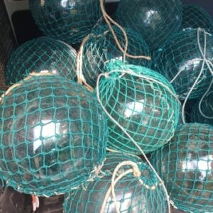 Vintage Glass Fishing Float 12inch (Green)
