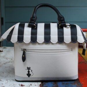 Vendula Grab bag – Cat Cafe (Black/White)