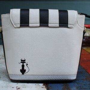 Vendula Crossbody Bag – Cat Cafe (Black/White)
