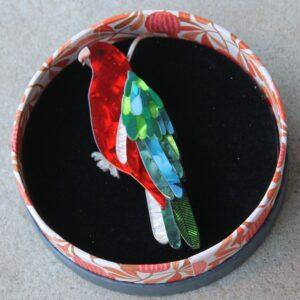 Erstwilder Brooch – King of the Coast (King Parrot)