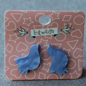 Erstwilder Earrings – Bird (Blue Swirl)