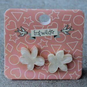 Erstwilder Stud Earrings – Flower (Pearl Sparkle)