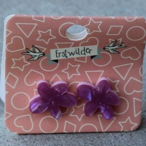 Erstwilder Stud Earrings – Flower (Fuchsia Pink)