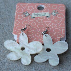 Erstwilder Drop Earrings – Flower (Pearl Sparkle)