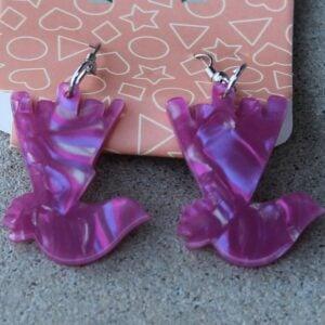 Erstwilder Earrings – Willie Wagtail (Fuchsia Pink)