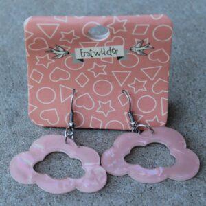 Erstwilder Earrings – Cloud Cut Out Pearly Pink.