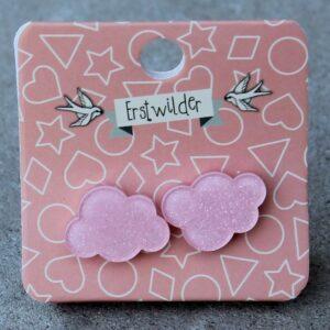 Erstwilder Stud Earrings – Cloud Pink Sparkle