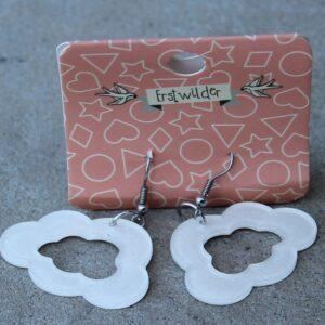 Erstwilder Earrings – Cloud Cut Out Pearly White